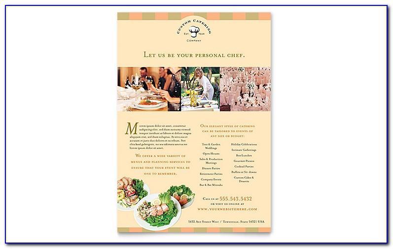 Free Sample Catering Menu Templates