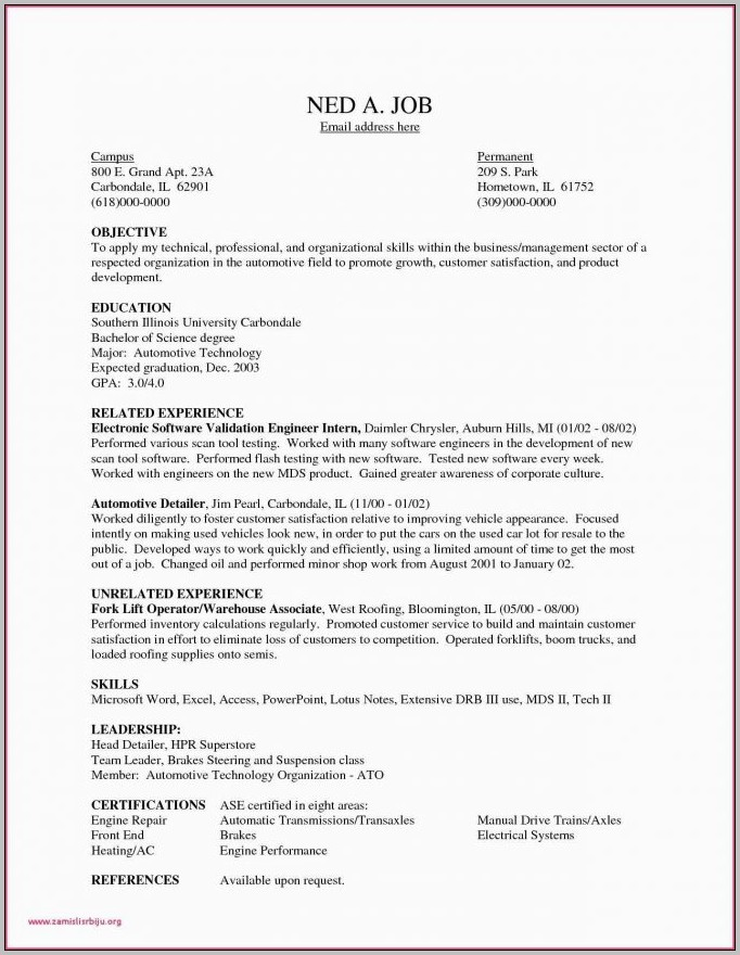Free Sample Resume Warehouse Manager