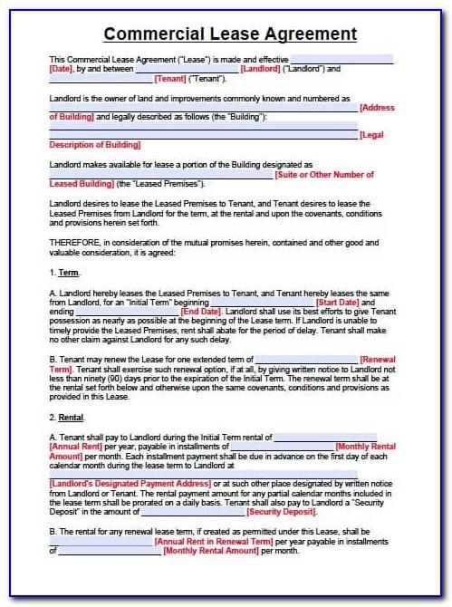 Free Simple Lease Agreement Nj
