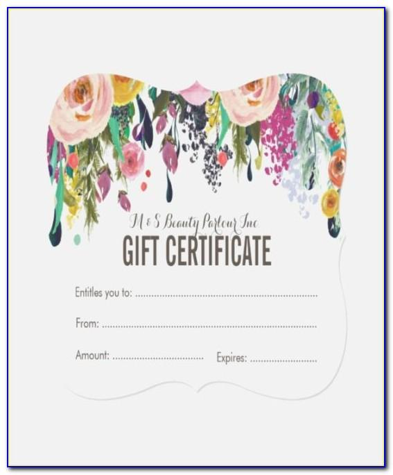 Hair Salon Gift Voucher Template