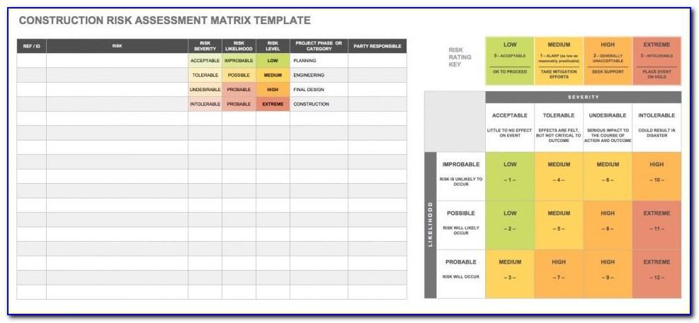 Hazard Identification And Risk Assessment Format Xls