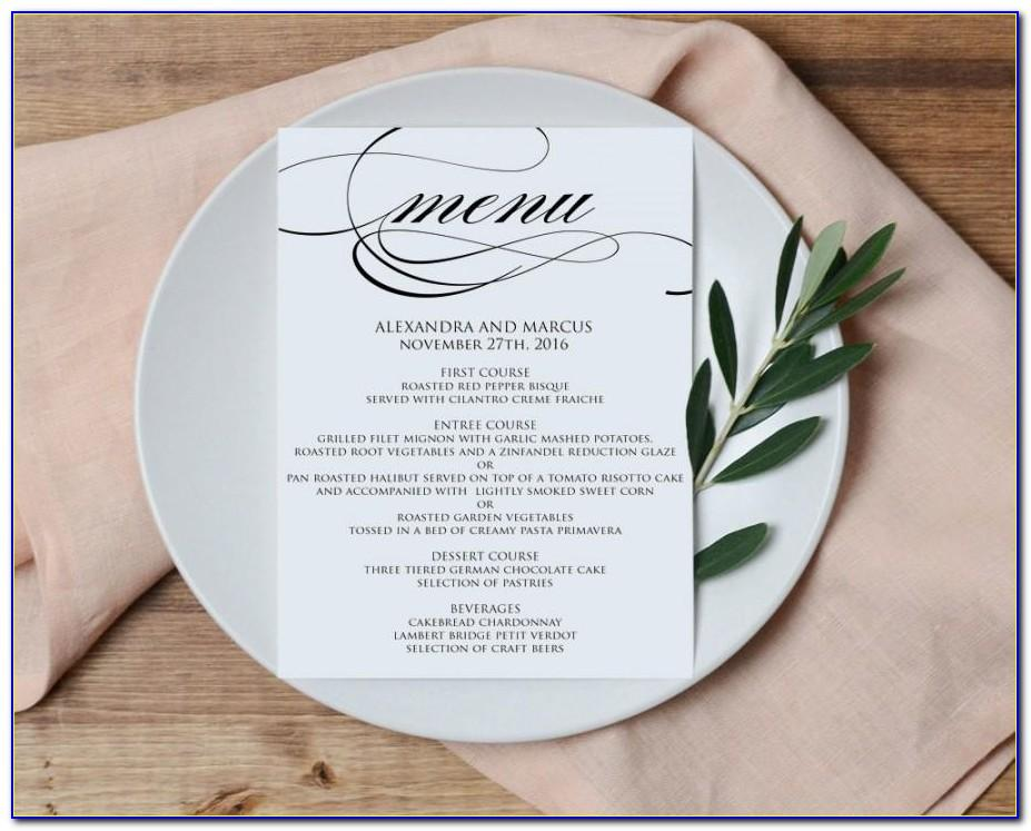 Homemade Menu Template