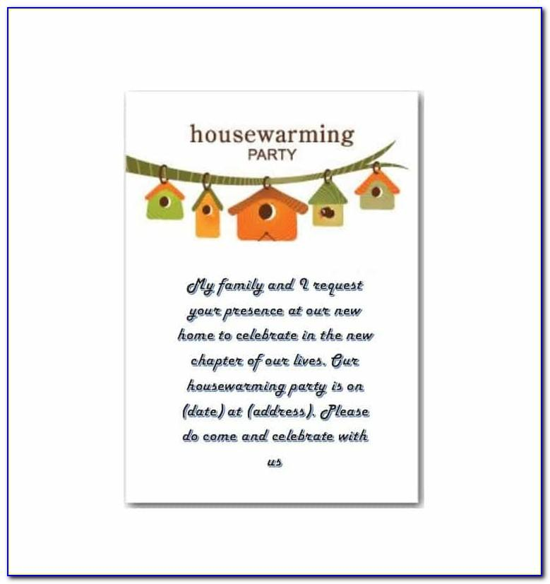 Housewarming Invitation Card Template Free Download