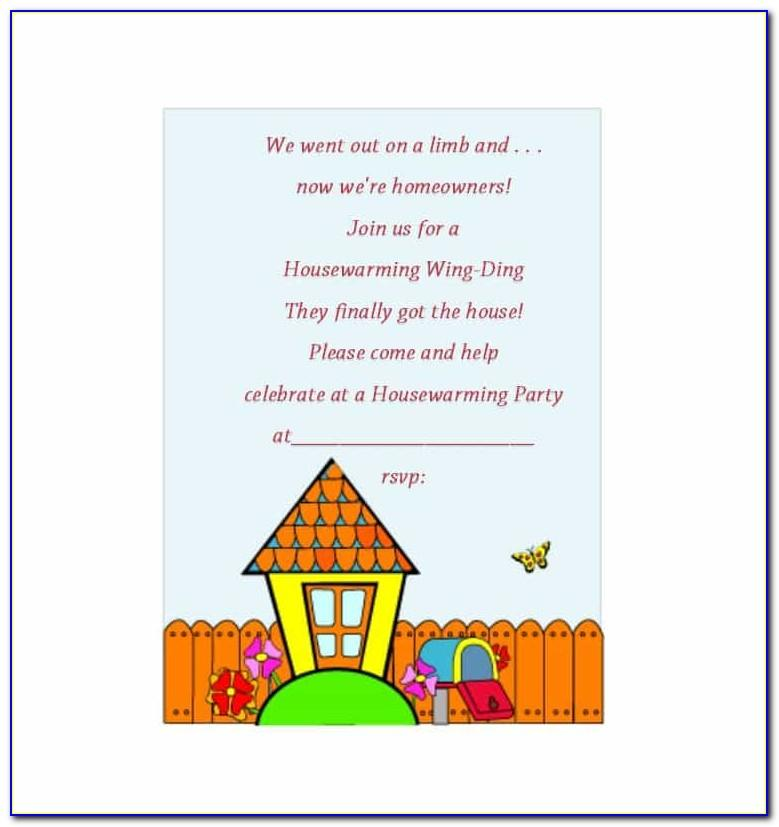 Housewarming Invitation Free Template India
