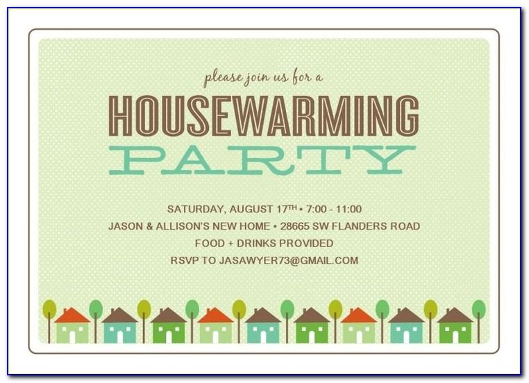 Housewarming Invitation Template Free Download