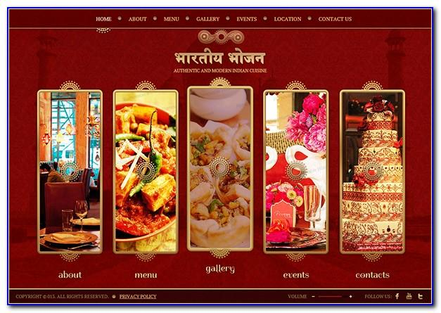 Indian Restaurant Website Design Templates