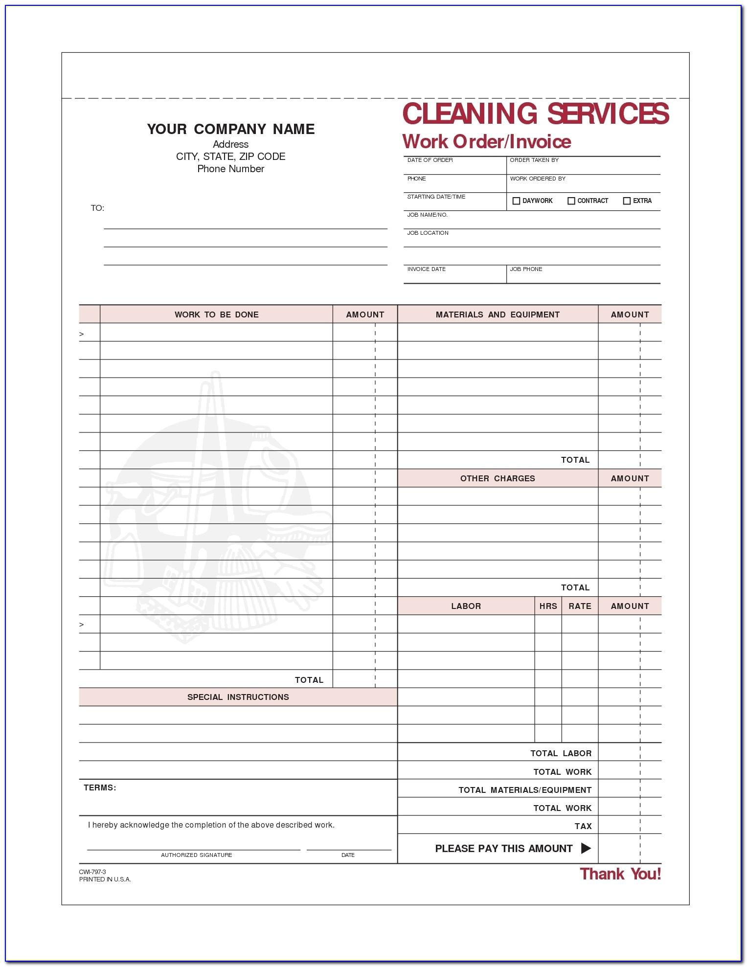 Invoice Format For Professional Services Rendered