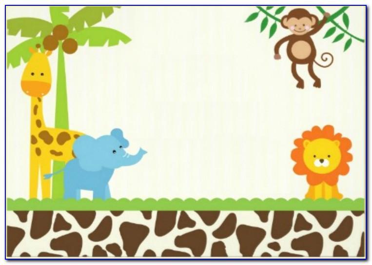 Jungle Safari Birthday Invitations Template