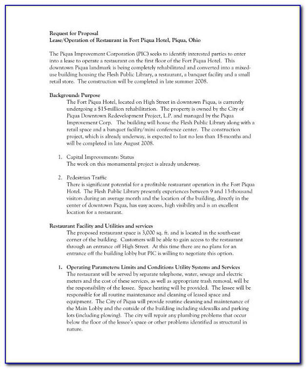Lease Agreement Form For Retail Space