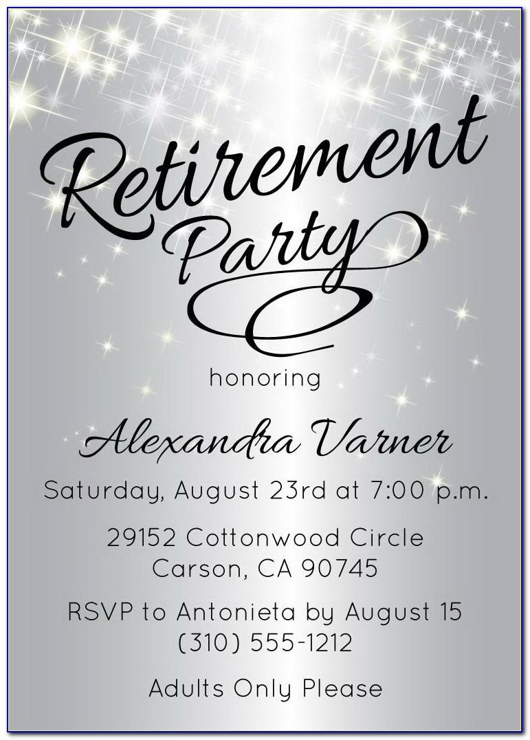Microsoft Retirement Party Invitation Template