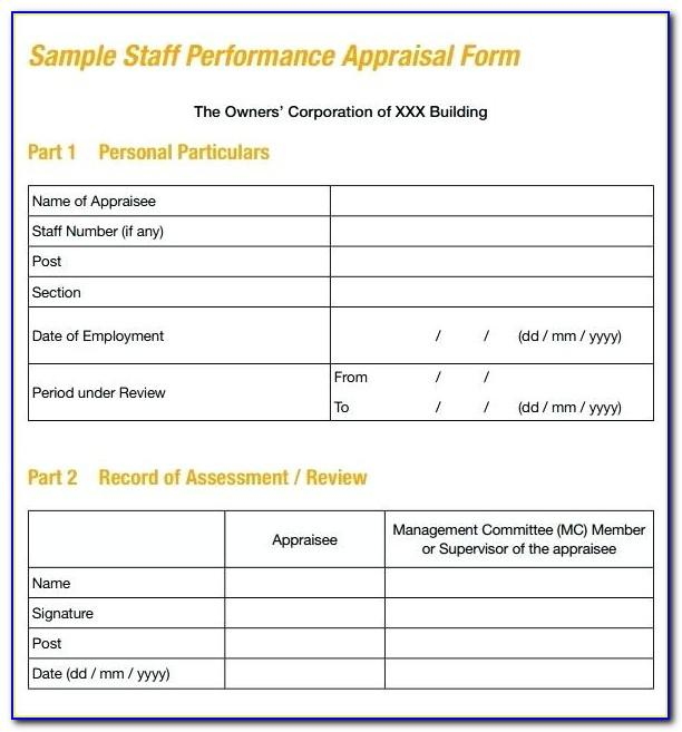 Performance Appraisal Review Sample Wording