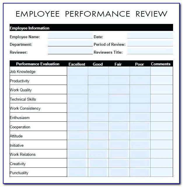 Performance Appraisal Sample Wording Pdf