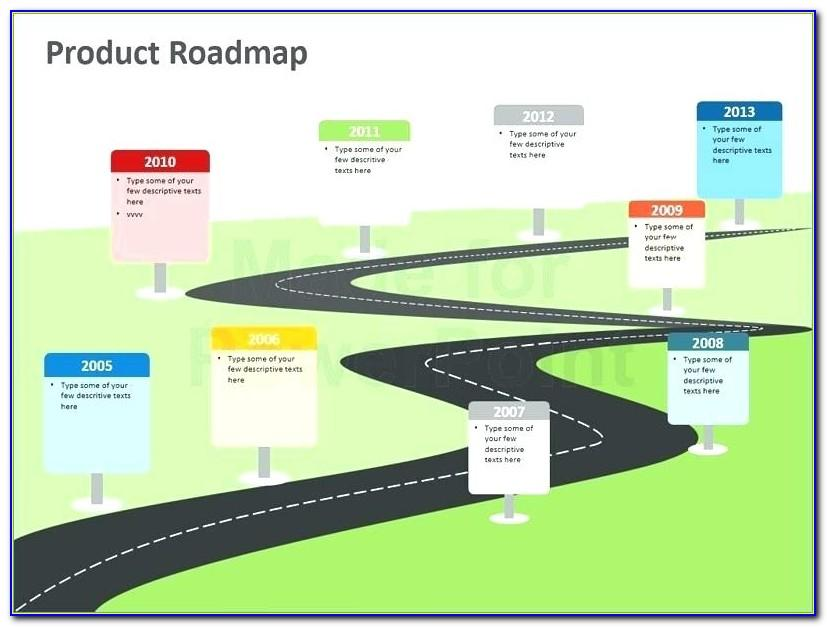 Perspective Animated Roadmap Powerpoint Presentation Template Download