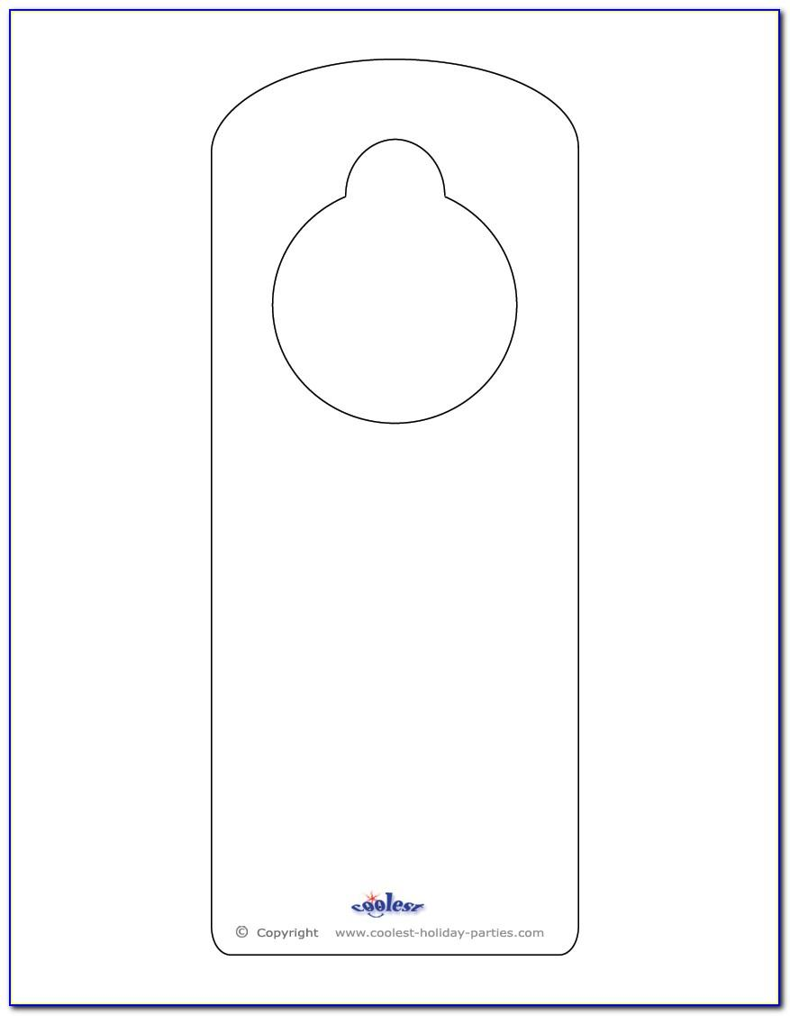 Printable Doorknob Hanger Template