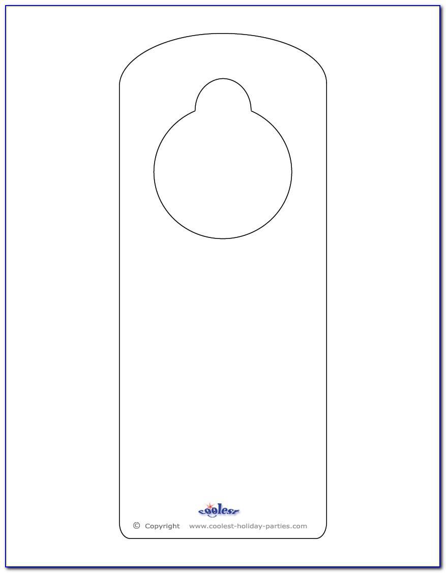 Printable Doorknob Hanger Template