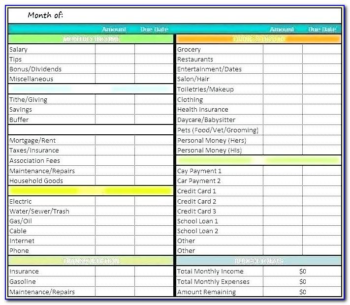 Project Budget Tracking Template Excel