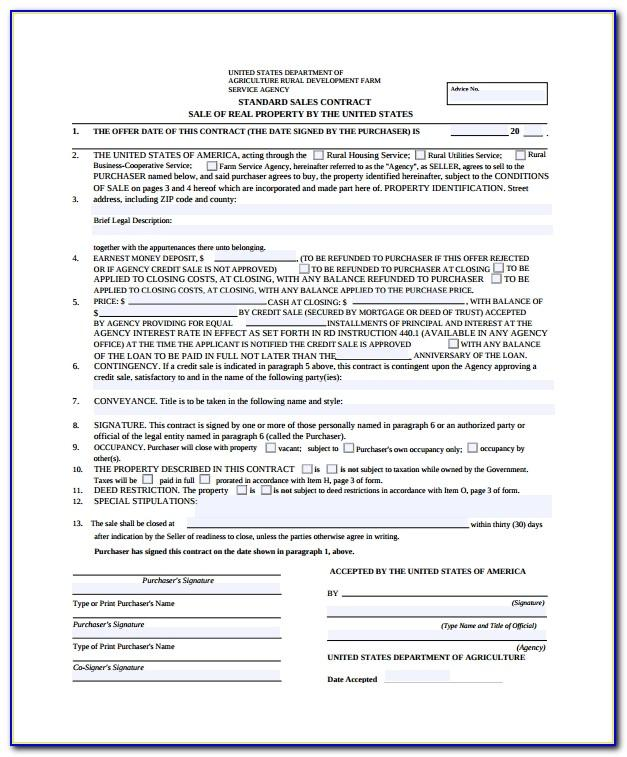 Property Sales Contract Template Uk