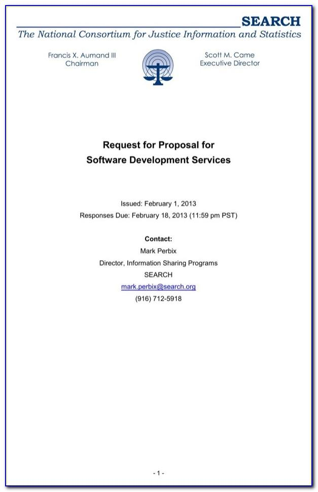 Request For Proposals Rfp Sample