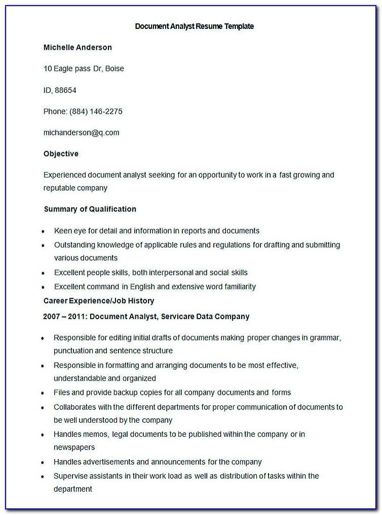 Resume For Teachers Templates Doc