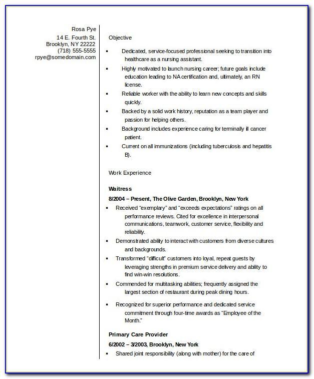 Resume Templates For New Teachers