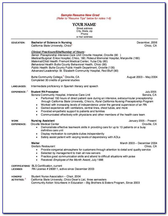 Resume Templates Respiratory Therapist New Grad