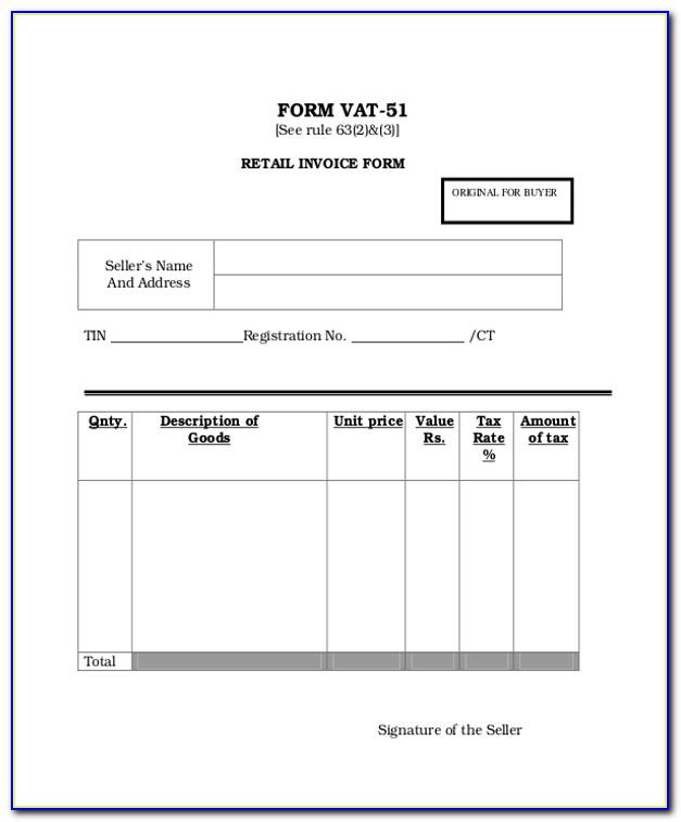 Retail Invoice Form 8 B