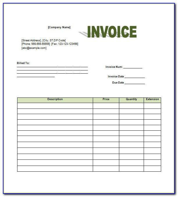 Retail Invoice Format In Word Free Download