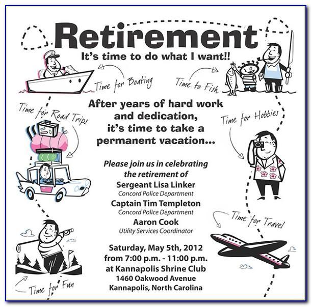 Retirement Announcement Flyer Template