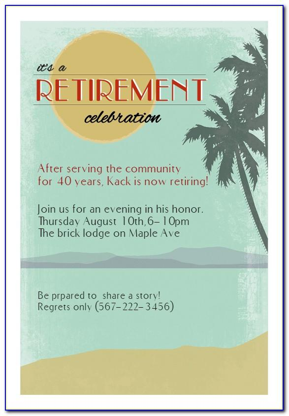 Retirement Dinner Invitation Template Free