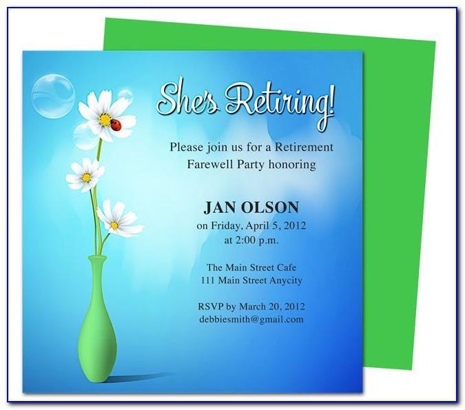 Retirement Farewell Invitation Templates