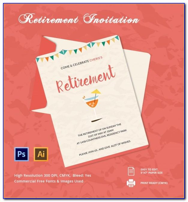 Retirement Invitation Template Free Printable