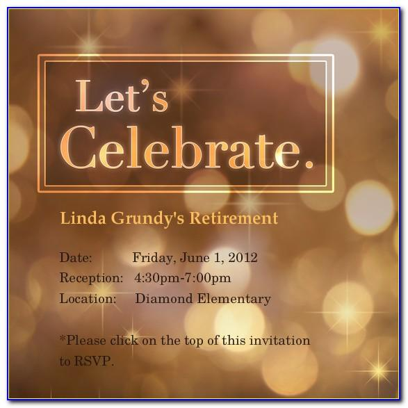 Retirement Invitation Template Word Free