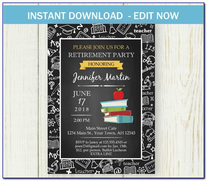 Retirement Invitation Templates Free Download