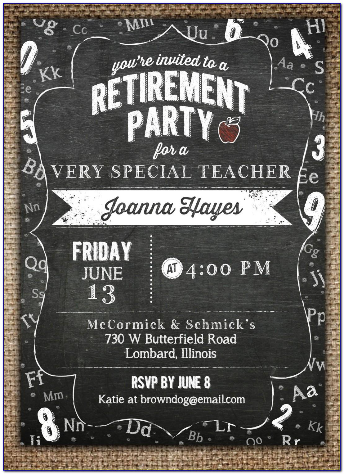 Retirement Invitation Templates Word