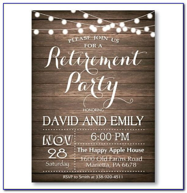 Retirement Invitation Wording Samples