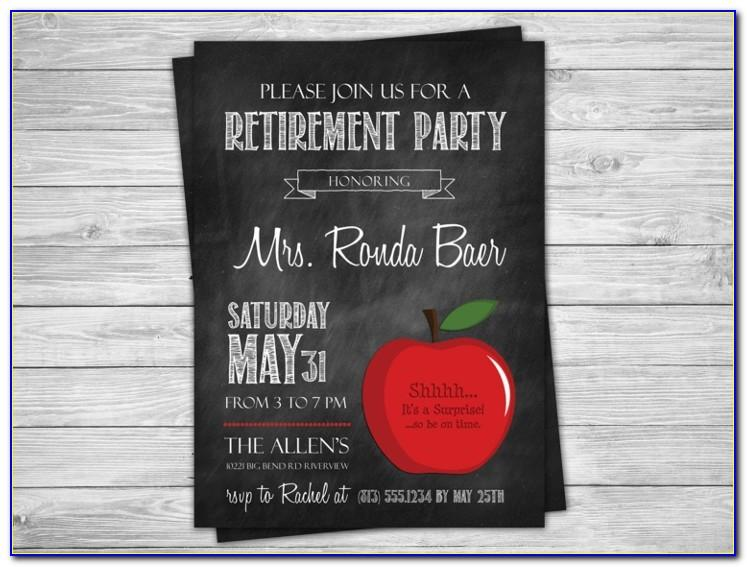 Retirement Invitations Flyer Templates