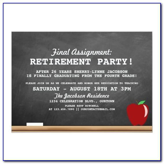 Retirement Invitations Templates Teacher