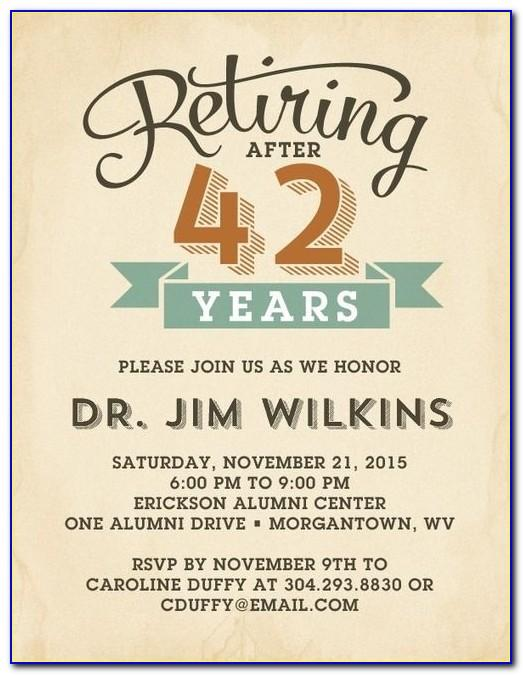 Retirement Reception Invitation Template