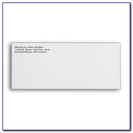 Return Address Envelope Template Word
