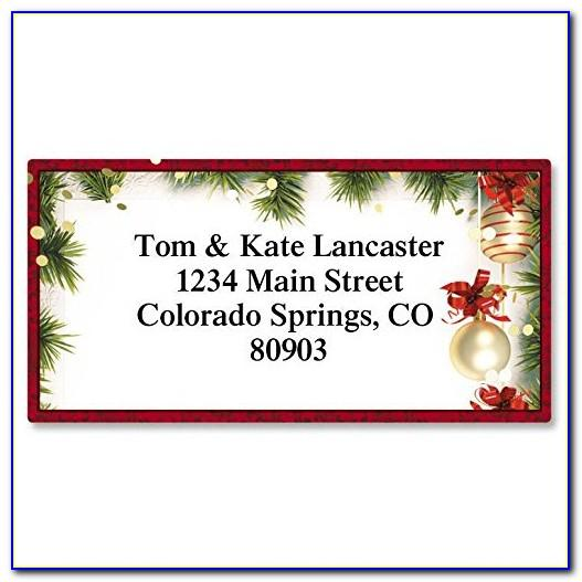 Return Address Label Template Free Christmas