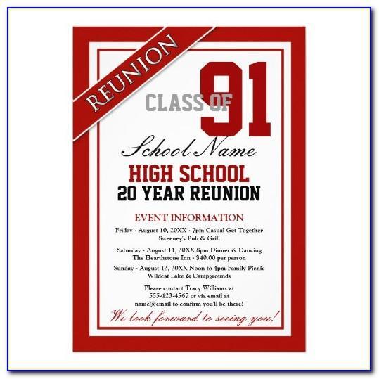 Reunion Invitation Template Free