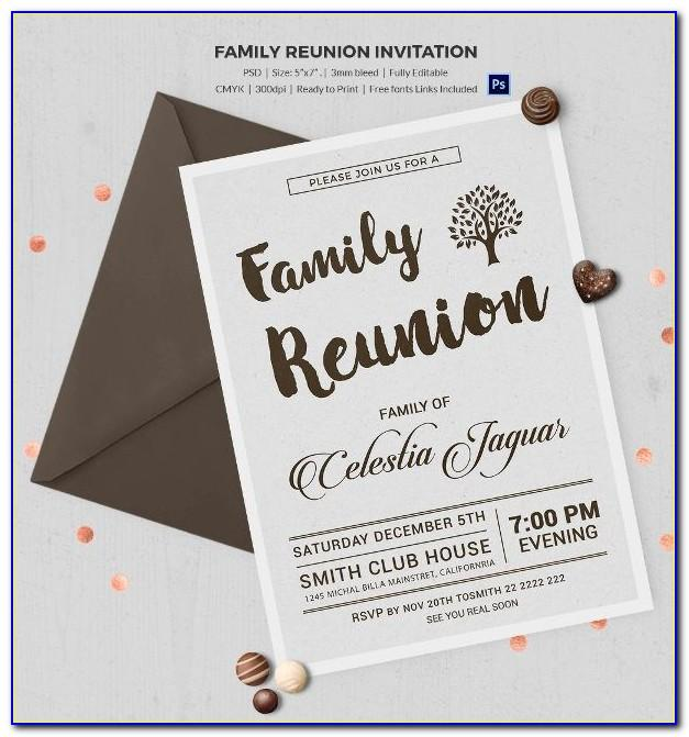 Reunion Invitation Templates Free