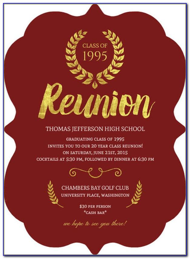 Reunion Invitations Templates Free