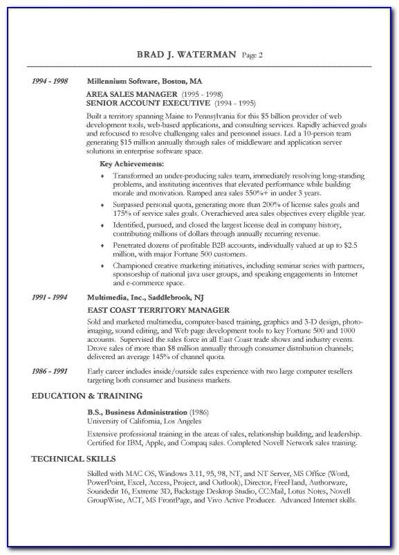 Reverse Chronological Resume Format Sample
