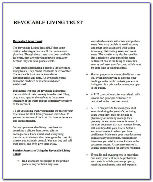 Revocable Living Trust Form Mississippi