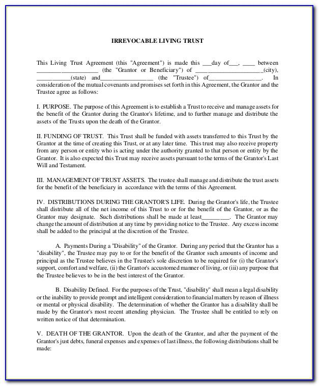 Revocable Trust Form California