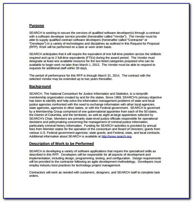 Rfp Examples Software Development