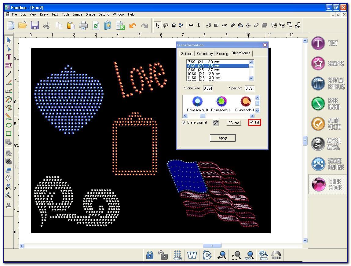 Rhinestone Template Cutting Software