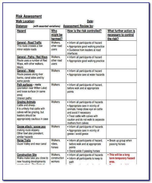 Risk Assessment Report Sample For Construction