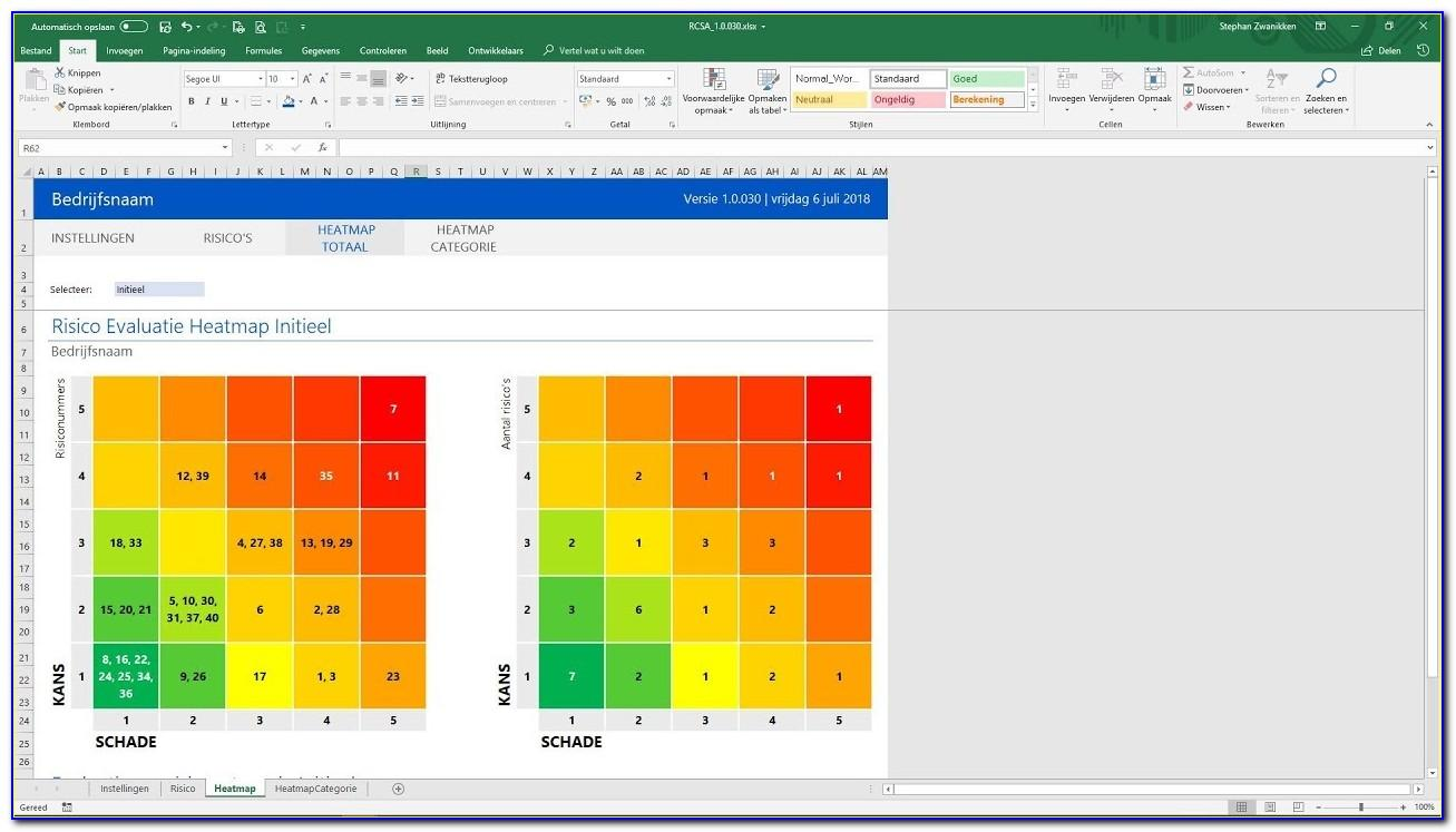 Risk Management Analysis Template Spreadsheet